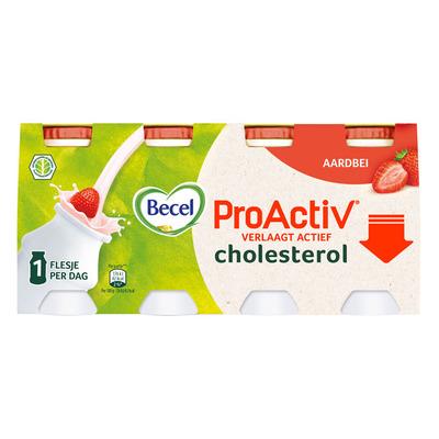 Becel ProActiv aardbei mini yoghurt drinks