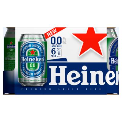 Heineken 0.0% lager beer 6x33cl