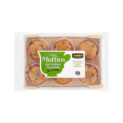 Jumbo Mini Muffins met Stukjes Chocolade