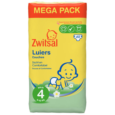 Zwitsal Luiers maxi 4 mega pack