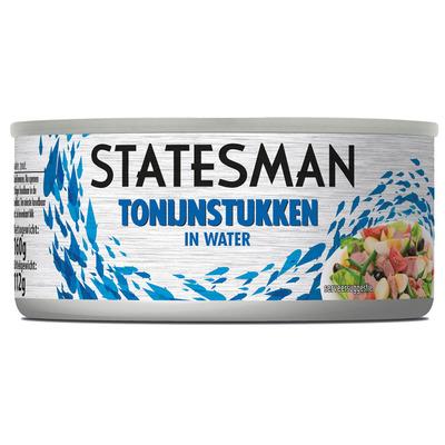 Statesman Tonijn stukken in water