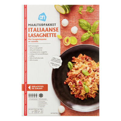 Huismerk Maaltijdpakket Italiaanse lasagnette