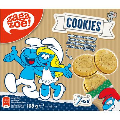 Zagazoe Smurfen cookies met chocoladesmaak