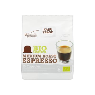 Fair Trade Original Biologisch Medium Roast Espresso 10 Capsules