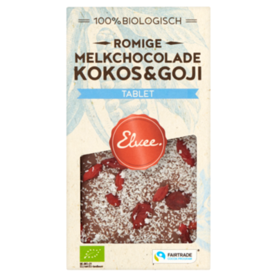 Elvee Melk kokos/goji tablet BIO/FT