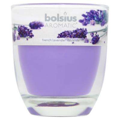 Bolsius Geurglas gevuld lavendel 80x70 millimeter