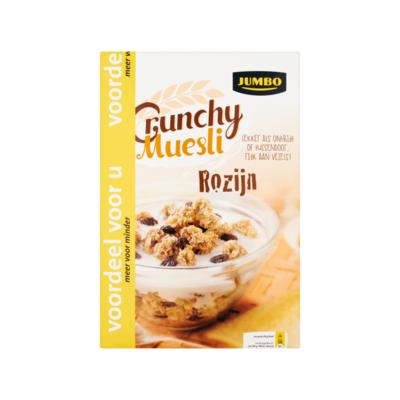 Jumbo Crunchy Muesli Rozijn Voordeel
