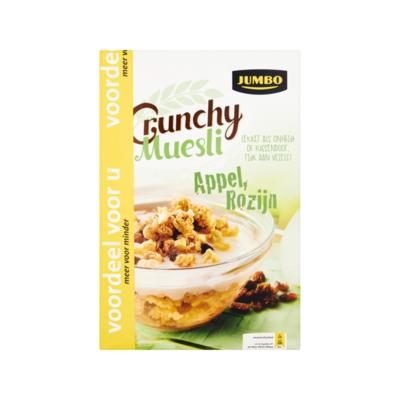 Huismerk Crunchy Muesli Appel Rozijn Voordeel