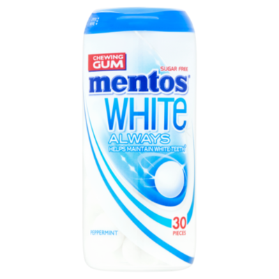 Mentos Gum white always peppermint