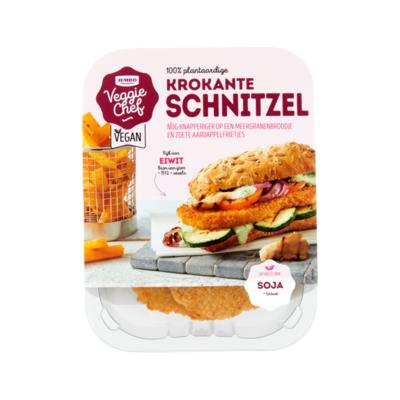 Huismerk Veggie Chef 100% Plantaardige Krokante Schnitzel