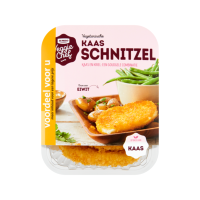 Huismerk Veggie Chef Vegetarische Kaas Schnitzel Voordeel