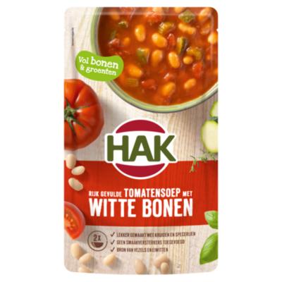 Hak Rijkgevulde tomatensoep witte bonen