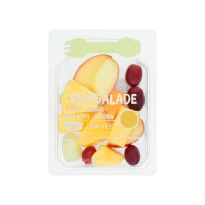 Huismerk Fruitsalade Meloen-Ananas-Rode Appel-Druiven