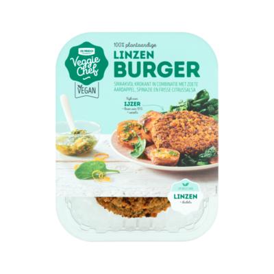 Huismerk Veggie Chef Linzen Burger
