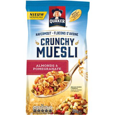 Quaker Crunchy muesli almond & pomegrenate