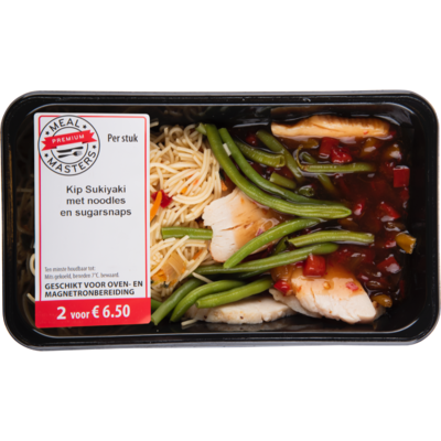 Mealmasters Kip sukiyaki  met noodles en sugarsnaps