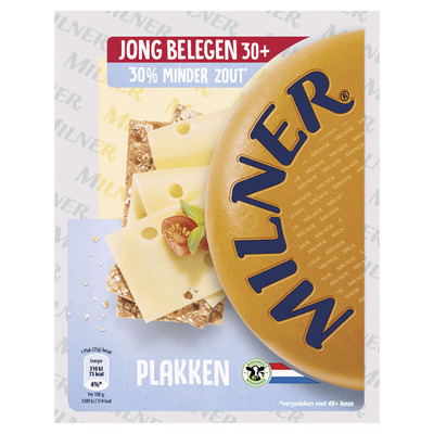 Milner Jong bel. kaas minder zout 30+ plakken