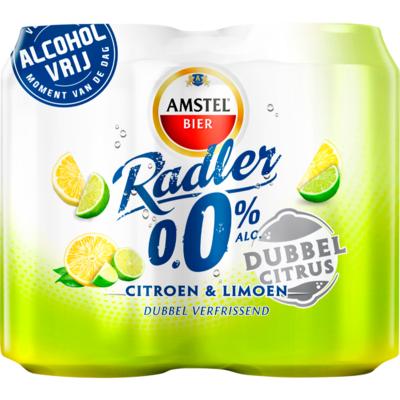 Amstel Radler 0% dubbel citrus