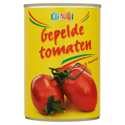 Casa Italiana gepelde tomaten 400 gram
