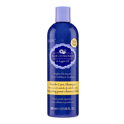 Hask Blue chamomille argan blonde shampoo