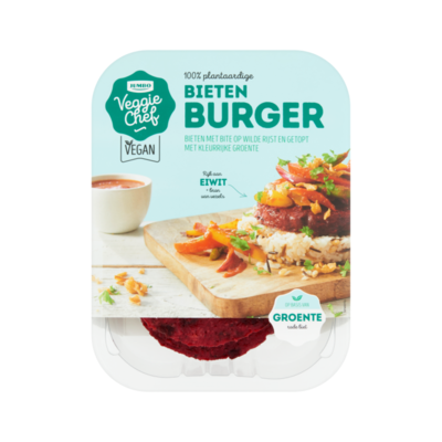 Huismerk Veggie Chef 100% Plantaardige Bietenburger