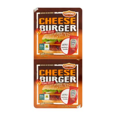 Flemmings Cheeseburger Flame Grilled 2 Stuks