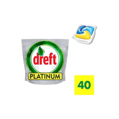 Dreft Platinum Vaatwastabletten Citroen 40 Capsules