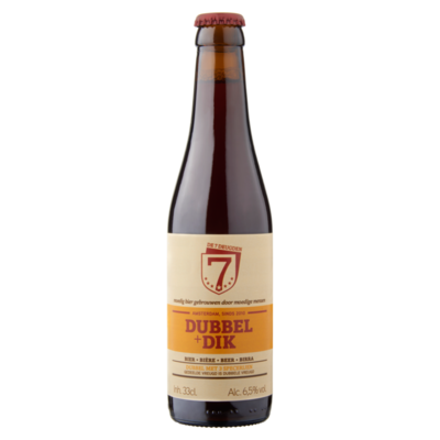 De 7 Deugden Dubbel + Dik Bier Fles