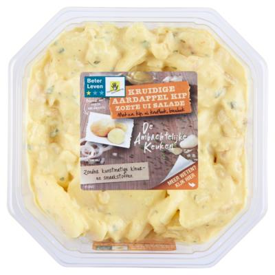 De Ambachtelijke Keuken Aardappel kip zoete ui salade