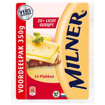 Milner Licht gerijpt 30+ plak grootverpakking
