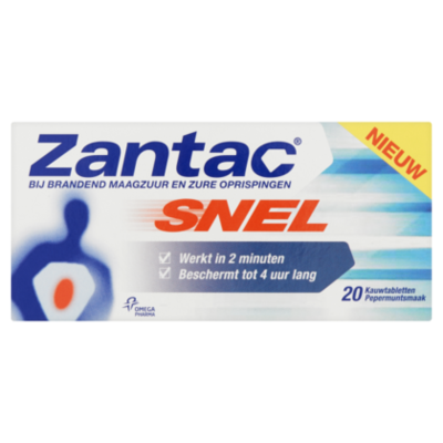 Zantac Snel 20 kauwtabletten