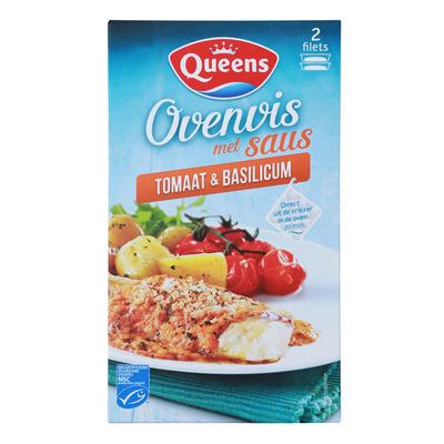 Queens Ovenvis tomaat & basilicum