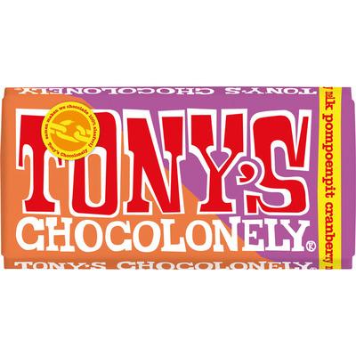Tony's Chocolonely Melk pompoenpit cranberry