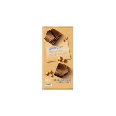 Huismerk Chocoladereep Stukjes Koek