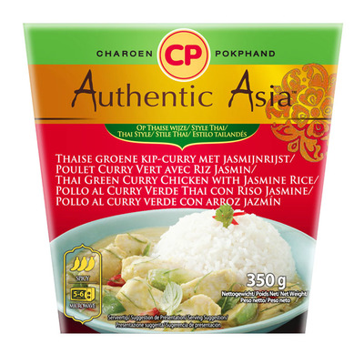 Authentic Asian Green tai chicken curry with jasminerice