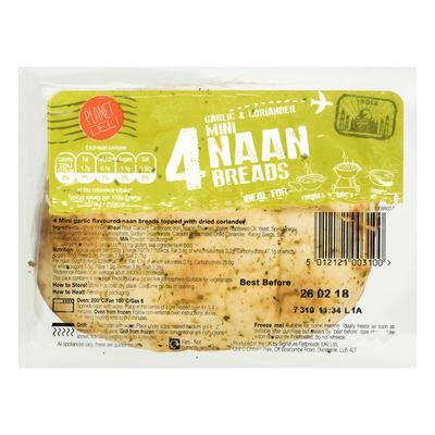 Planet Deli Mini garlic and coriander naan