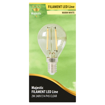 Majestic Volglas Led Kogellamp Warm White 2W E14