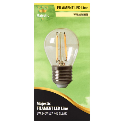 Majestic Volglas Led Kogellamp Warm White 2W E27