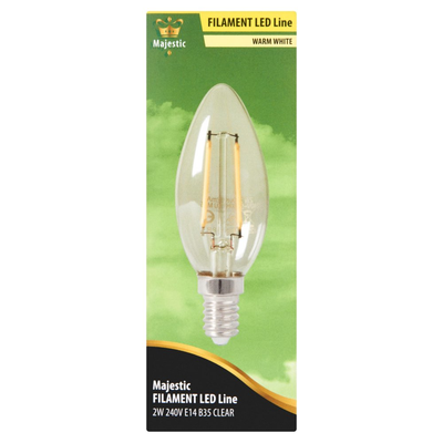 Majestic Volglas Led Kaarslamp Warm White 2W E14