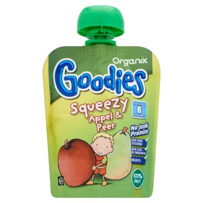 Organix Goodies Squeezy Appel & Peer 6+ Maanden 90 g
