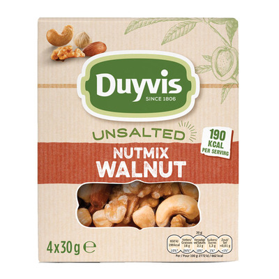 Duyvis Unsalted nutmix walnut multipack