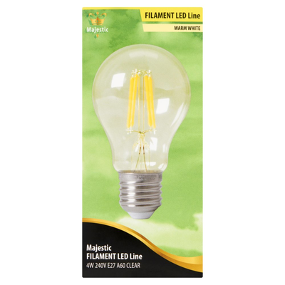 Majestic Filament LED Line Warm White 4W E27