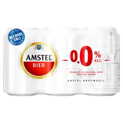 Amstel 0.0 Blikken 6 x 33 cl