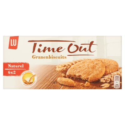 LU Time Out Granen Biscuits Naturel 6 x 2 Koekjes 171 g