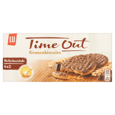 LU Time Out Granen Biscuits Melk Chocolade 6 x 2 Koekjes 195 g