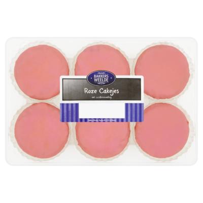 Bakkers Weelde Roze Cakejes 230 g