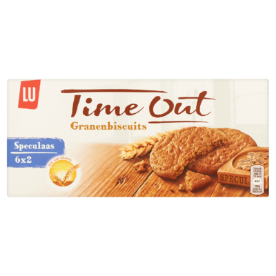 LU Time Out Granen Biscuits Speculaas 6 x 2 Koekjes 171 g