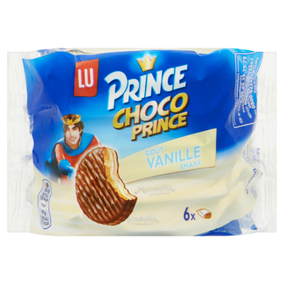 LU Prince Biscuit Choco Prince Vanille 6 Koekjes 170 g