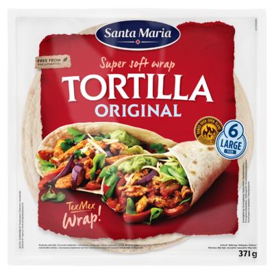 Santa Maria Super Soft Wrap Tortilla Original 6 Stuks 371 g