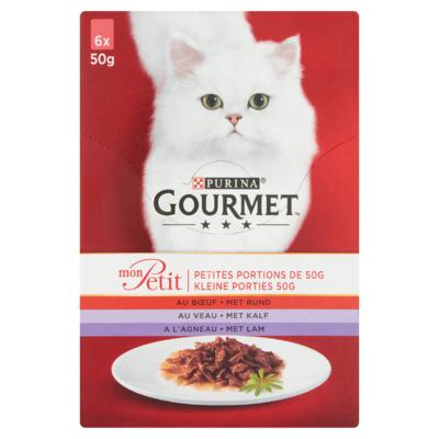 Gourmet Kleine Porties met Rund, Kalf, Lam 6 x 50 g